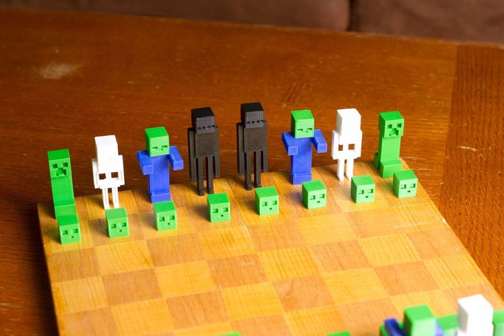 Minecraft Chess Set by FuelCell250.