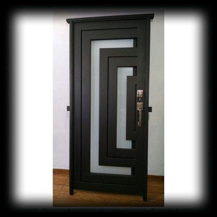 Puerta de entrada pinterest art deco house for Puertas de forja exterior