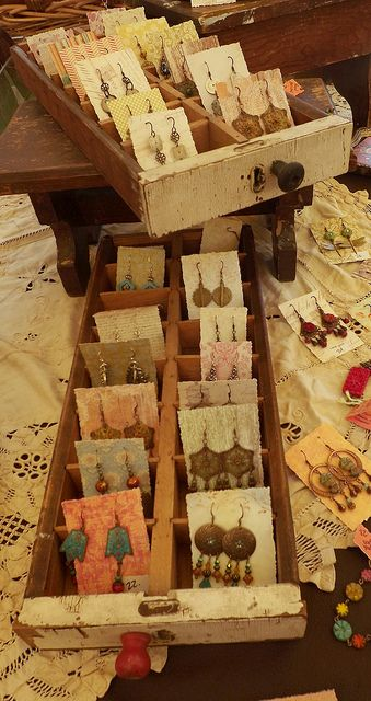 Earring display for craft fair