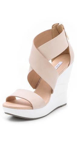 This @DVF opal white lacquered wedge sandals would make a perfect addition to your summer wardrobe $295, get it here: http://rstyle.me/~mCaX