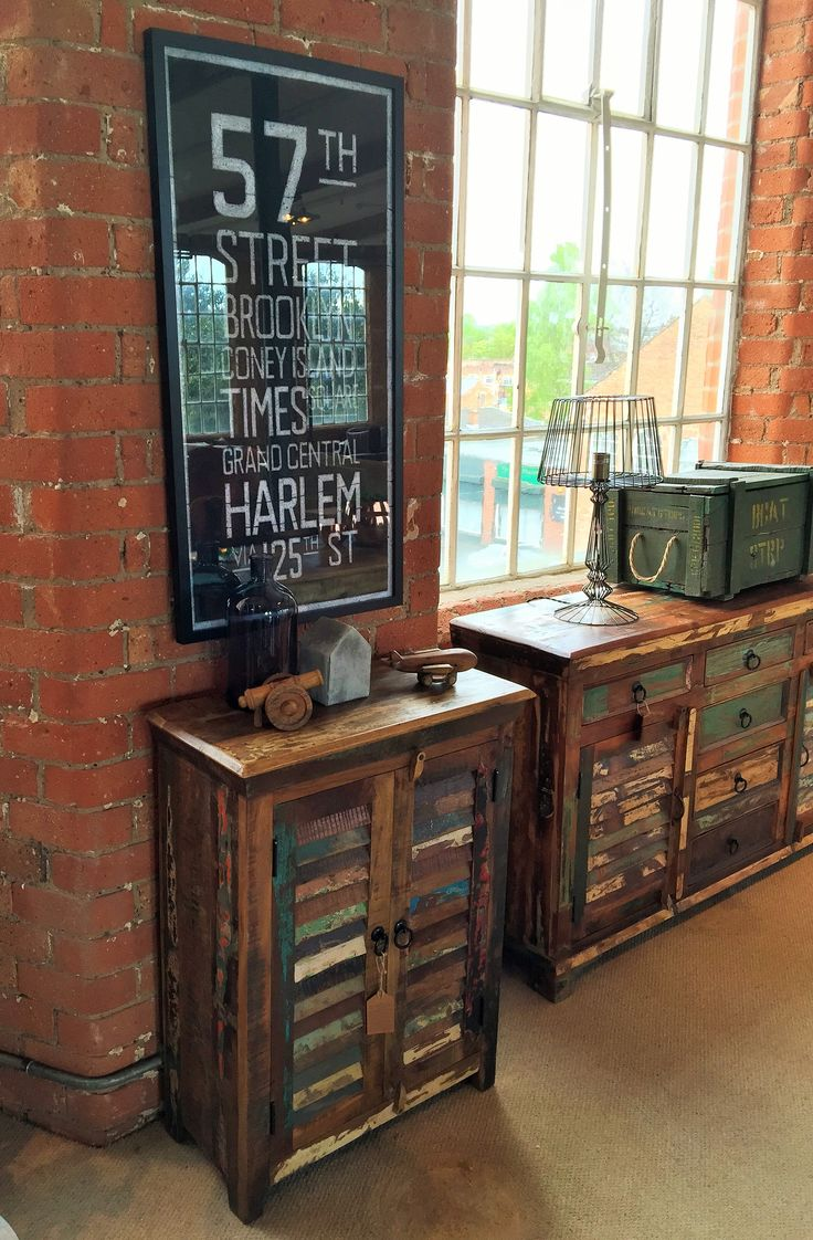 The Mary Rose Upcycled 2 Door Sideboard is made from recycled fishing boat timbers and old window shutters.  #upcycled #salvagedwood