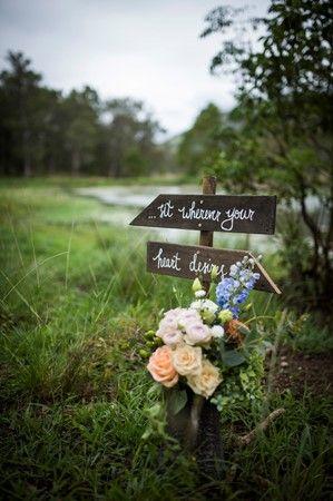 """Sit Wherever Your Heart Desires"" Wedding Signage - Lovebird Weddings, Noosa Australia"