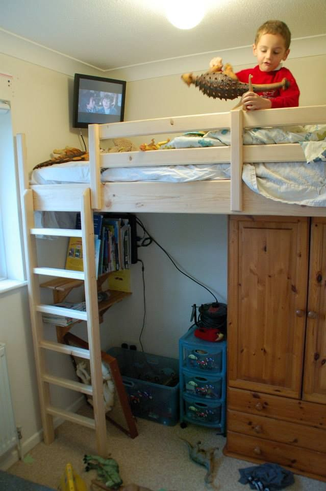 72 best images about high sleeper beds on pinterest beds for children wood handrail and loft - Beds attached to the wall ...