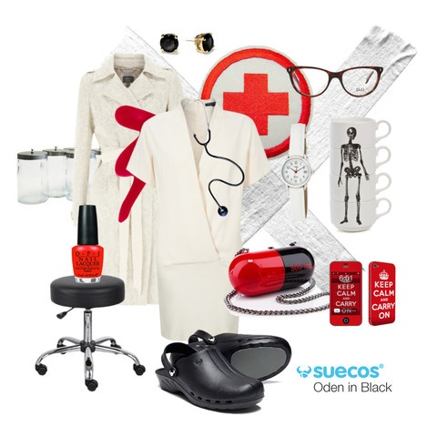 zuecos sanitarios Oden negro: Workwear Inspiration, Nursesho Medicalsho, Inspiration Boards, Nur Sirens, Sexy Nur, Red White, White Nur, Clogs Nursesho, Oden Clogs