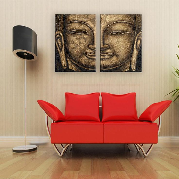 Buddha Modular Canvas Wall Art / 2 Piece Set