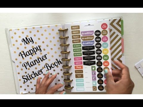 Happy Planner Sticker Book \\ Inspired by Kellofaplan OMG! THIS is genius!