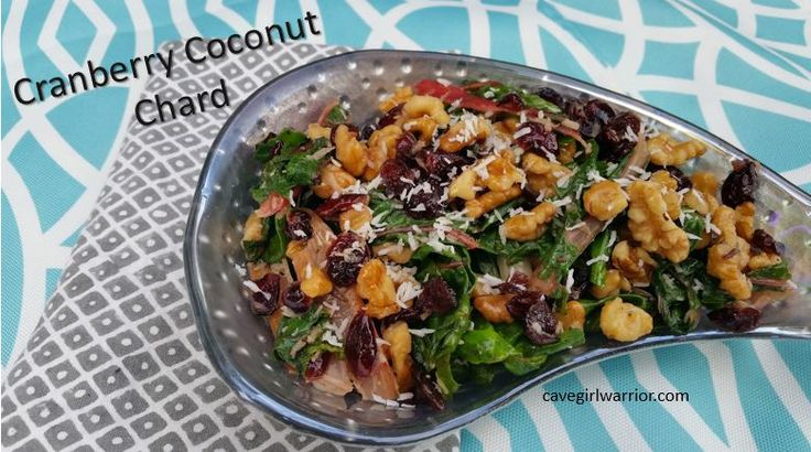 Cranberries, walnut, coconut and chard - what more could you ask for?