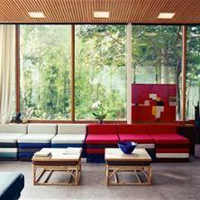 Fra stua i Planetveien 12. Arne Korsmo og Grete Prytz Kittelsens hus.