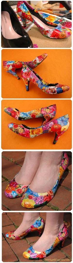 decoupaged shoes by nell