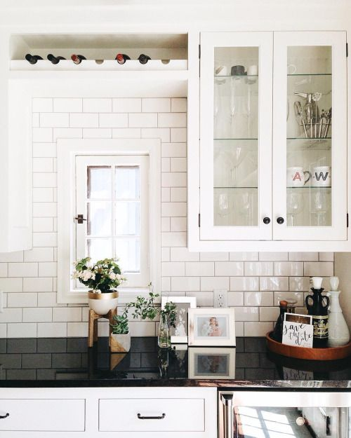 kitchen shelving with built-in wine rack