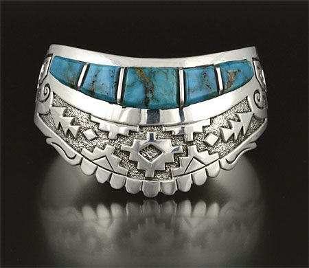 Silver & Turquoise Bracelet by Sampson Gray (Navajo)