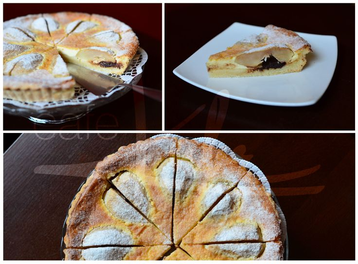 Hruškový koláč s mascarpone a čokoládou