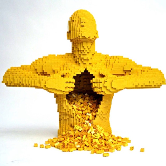 Nathan Sawaya builds his awe-inspiring art out of LEGO® bricks. The former corporate lawyer quit his job in 2001 to focus on becoming the world's foremost LEGO artist.: Legoart, Lego Sculpture, Google Search, Lego Art, Amazing Things, Lego Creations, Lego Lamp, Music Videos, Cool Lego