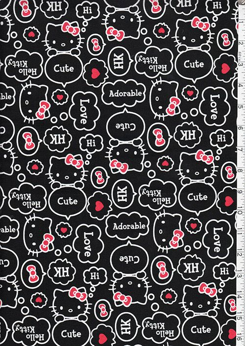 Japanese Asian Quilting Sewing Fabric  Hello por Shiboridragon