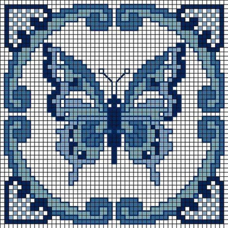 Butterfly hama perler pattern
