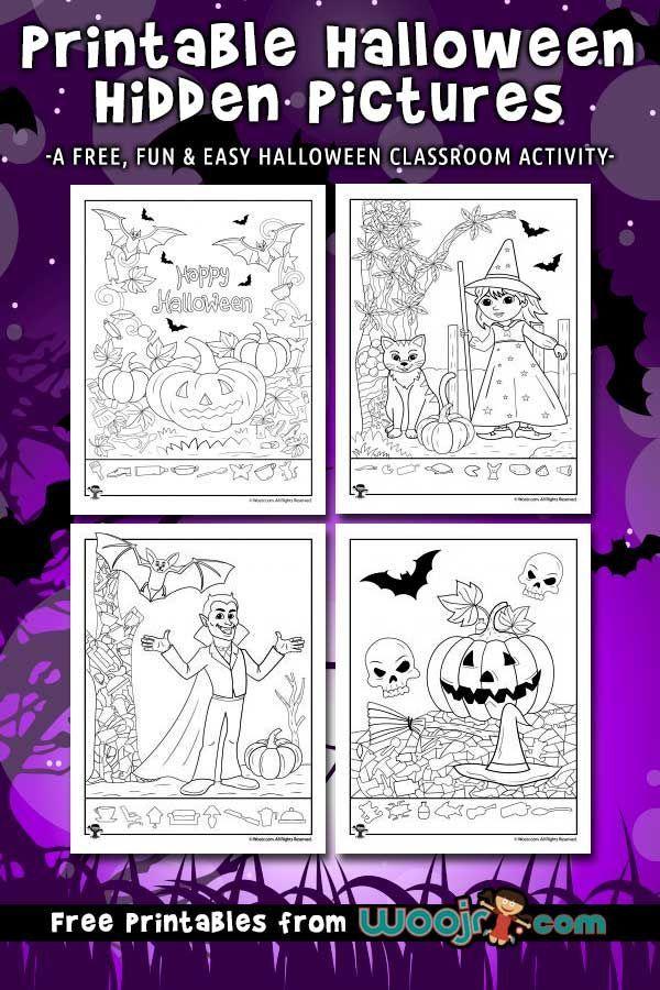 Halloween Hidden Pictures Printables Halloween Party Activities
