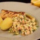 Torsk med brynt smör, räkor och pepparrot - Recept från Mitt kök - Mitt Kök