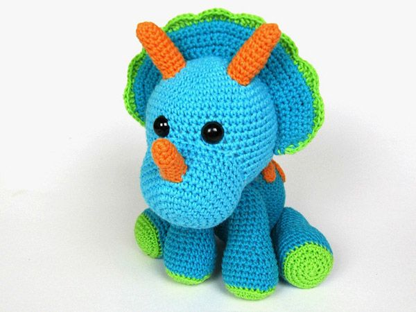 Triceratops Tripi amigurumi pattern by DioneDesign ...