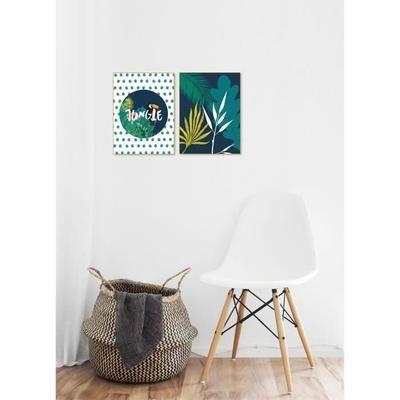 Tableau déco glossy jungle palmier 30 x 40 cm