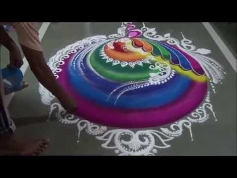 Diwali special Rangoli Unique Sanskarbharati Rangoli by Satish Thavi l Innovative l Creative - YouTube