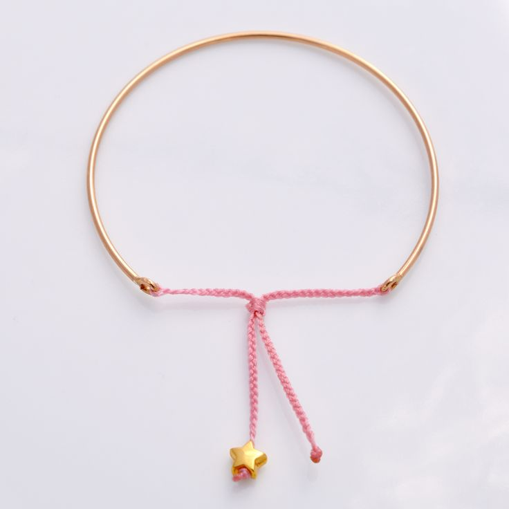 Goldreifen mit Glücksstern-Rosa / Artikel verwalten / Katalog / Magento Administration   Handgemachte Armbänder & Halsketten   Handgemachte Armbänder & Halsketten