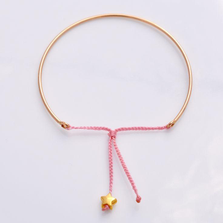 Goldreifen mit Glücksstern-Rosa / Artikel verwalten / Katalog / Magento Administration | Handgemachte Armbänder & Halsketten | Handgemachte Armbänder & Halsketten