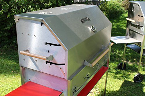 Hendl/PG 1000Catering Kitchen Stainless Steel BBQ Grill Charcoal Barbecue Grill Steckerlfisch Hearth V2A Nirosta