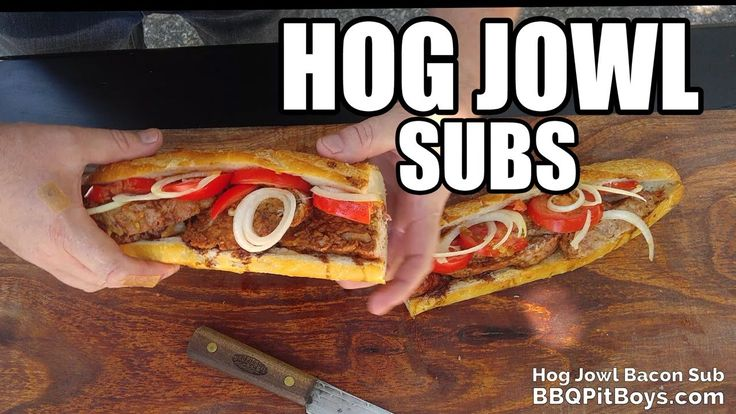 Hog Jowl Bacon Subs recipe - YouTube