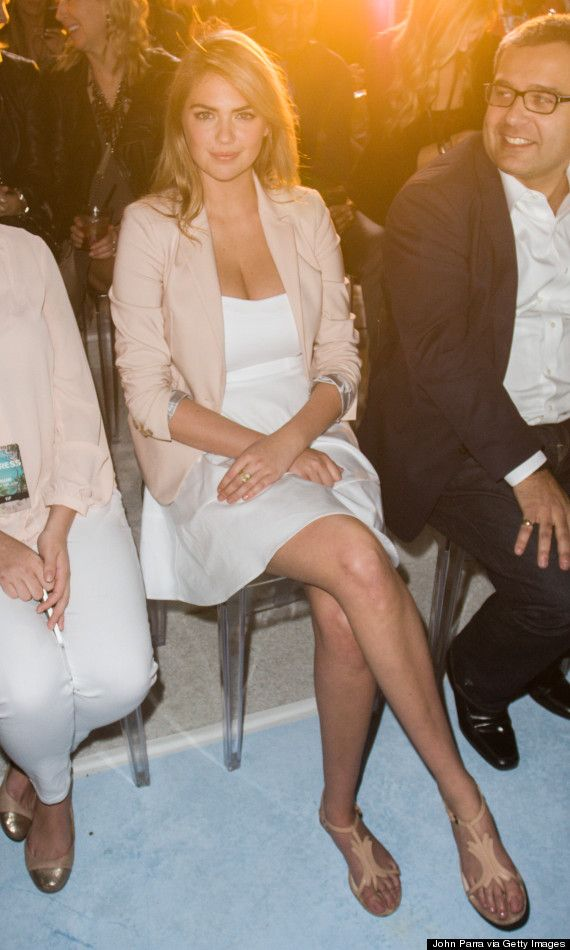 Kate Upton's Little White Dress Is Perfect For Summer