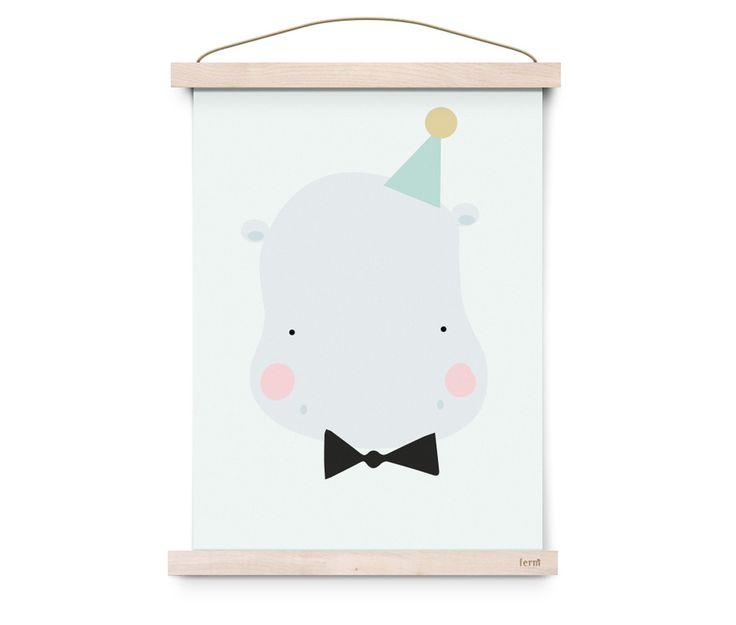 POSTER - EEF LILLEMOR HAPPY HIPPO