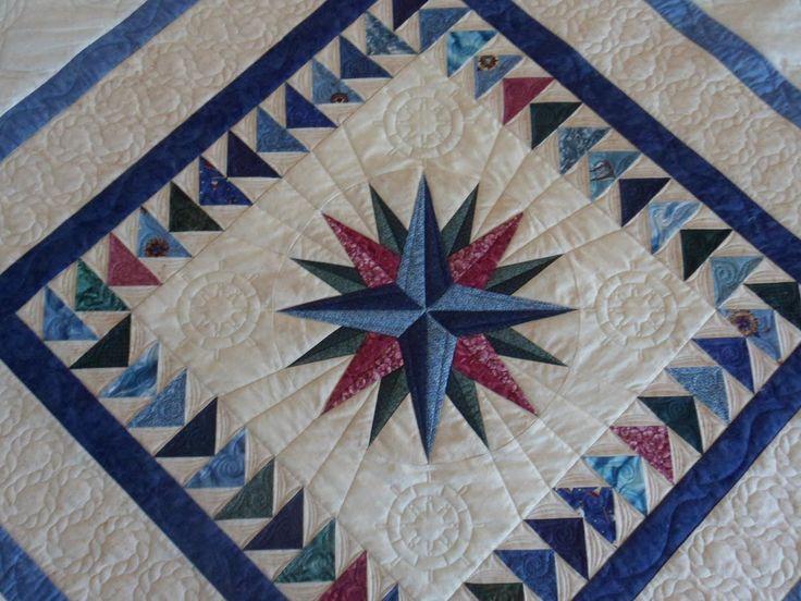 11 best Mariner compass quilts images on Pinterest | Star quilts ... : nautical star quilt pattern - Adamdwight.com