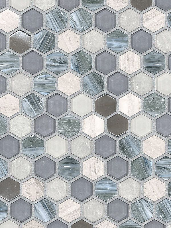 Best Blue Gray Hexagon Glass Marble Mosaic Backsplash Com In 640 x 480
