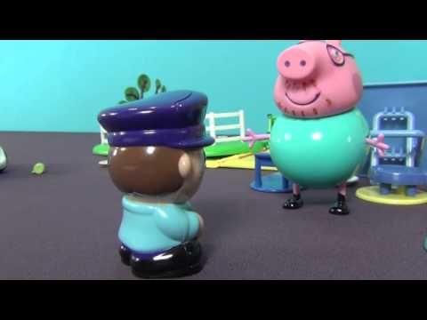 Peppa Pig en français. Peppa Cochone et sa famille ont pique-nique. Mada...