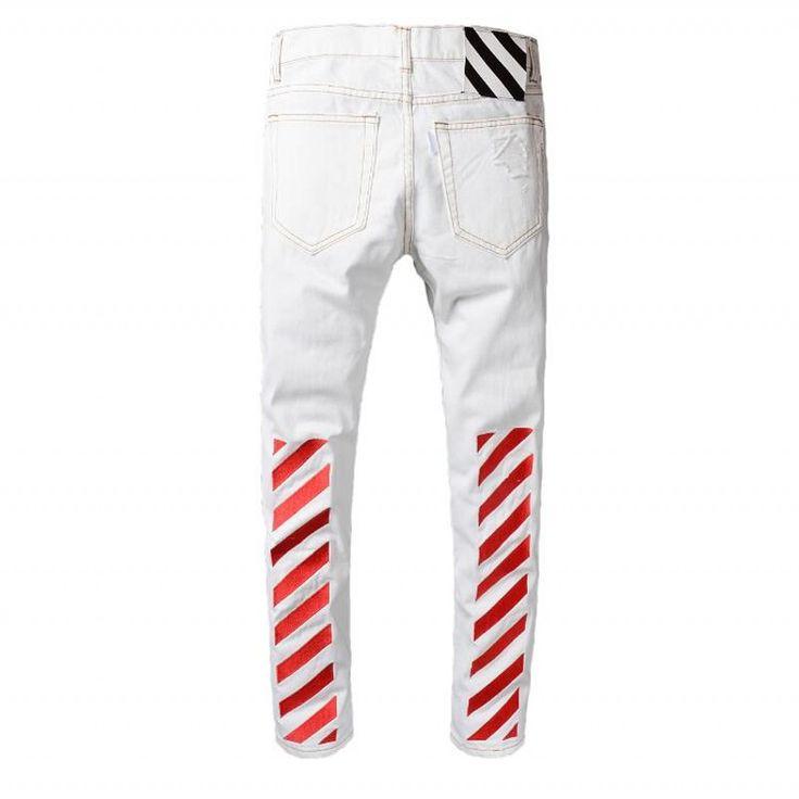 >> Click to Buy << Herren Jeans Marke INFLATION 2017 New High Quality Blue Denim Jeans Men Jeans Men's Elastic Thin Rut Mens Boots Beggar Torn Jean #Affiliate