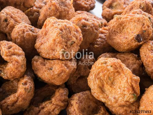 """Download the royalty-free photo """"The group of delicious fried fish-paste balls. (Thai food)"""" created by phasuthorn at the lowest price on Fotolia.com. Browse our cheap image bank online to find the perfect stock photo for your marketing projects!"""