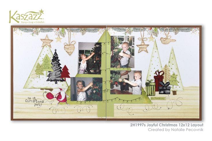 2H1997s Joyful Christmas 12x12 Layout