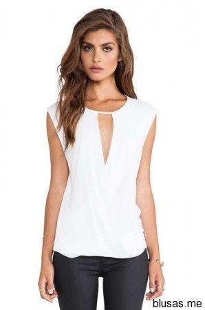 imagenes de blusas de vestir blanco