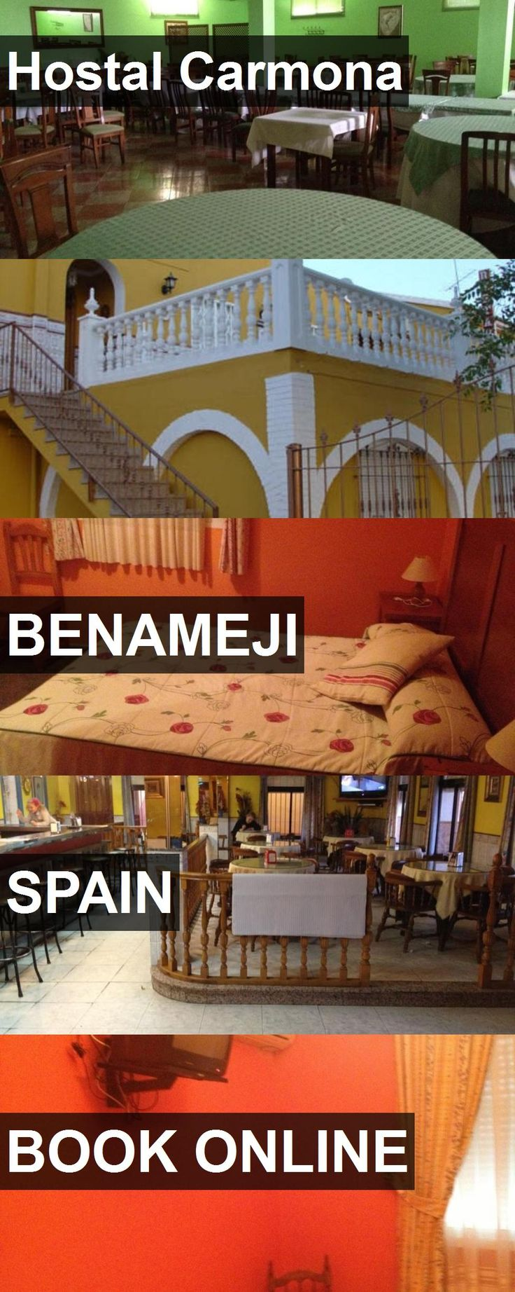 Hotel Hostal Carmona in Benameji, Spain. For more information, photos, reviews and best prices please follow the link. #Spain #Benameji #hotel #travel #vacation