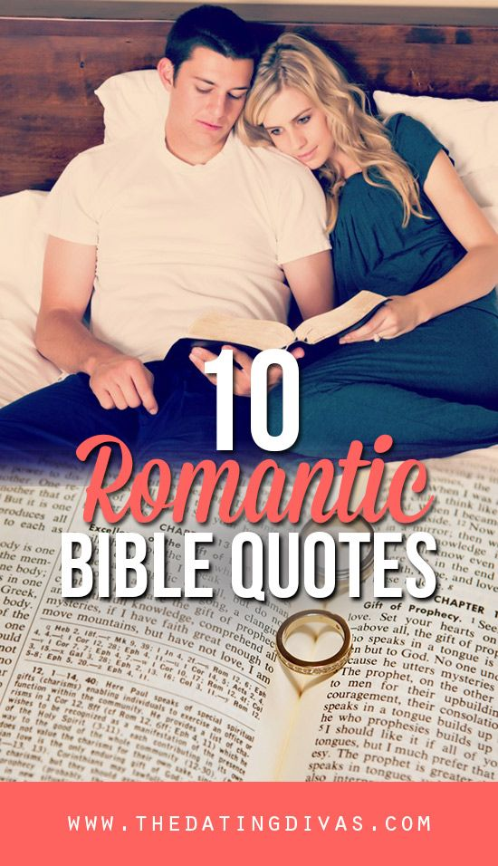 The most romantic Bible quotes from www.TheDatingDivas.com