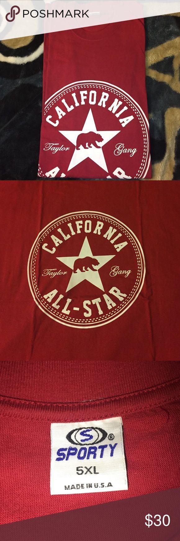 Men's California Shirt Men's California Taylor Gang Shirt Sporty Shirts Tees - Short Sleeve