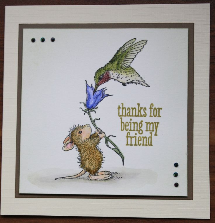 a card featuring house mouse made from a stampendous hummingbird feeder stamped image coloured. Black Bedroom Furniture Sets. Home Design Ideas