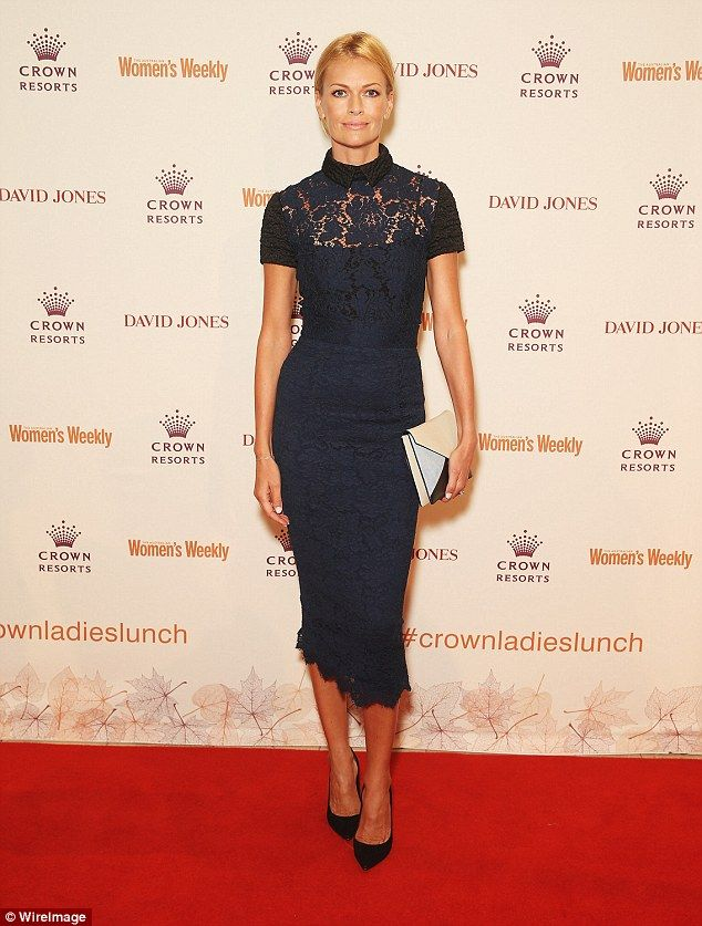 Radiant:The 44-year-old  looked delighted to be surrounded by her close friends to celebrate the occasion and flaunted her seemingly ageless complexion (Pictured atCrown's Autumn Ladies Lunch 2015)