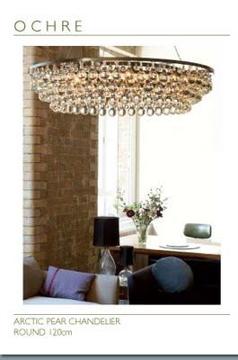 Ochre Arctic Pear chandelier