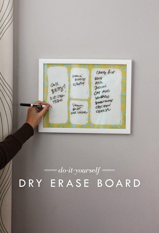 DIY Dry Erase Board - Aunt Peaches