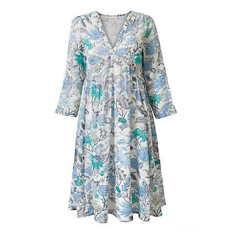 Buy East Marianne Floral Print Dress, Pearl/Multi Online at johnlewis.com