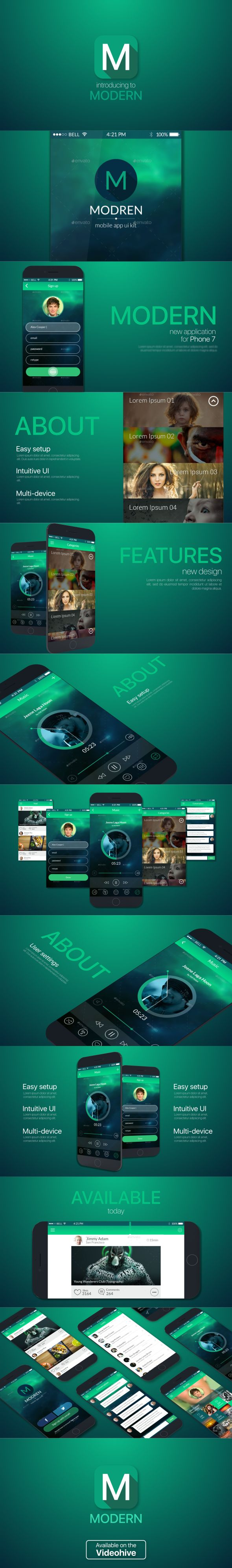 https://videohive.net/item/modern-app-promo/18998089?ref=zykost  Modern App Promo by zykovst |   VideoHive app promo, apple, apps, developer, ios, iphone, minimal, mobile, mockup, modern, presentation, promotion, responsive, store 12 unique scenes Modular structure 7 animated toutch points No plugins required After Effects CS6 or above Videohelp Easy to use, comfortable controls Universal Expressions
