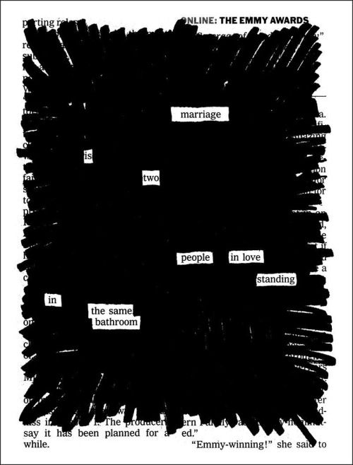Blackout poetry activity tying into the theme of censorship in Fahrenheit 451