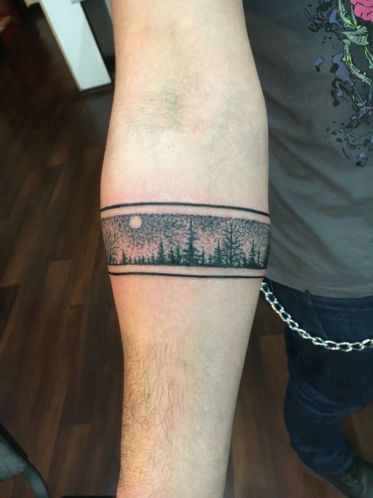 Forest Tattoos For Guys Forearm Band Tattoos Arm Band