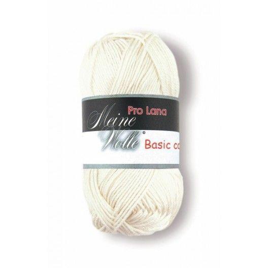 Ovillos Pro Lana Basic Cotton 02 Blanco Roto