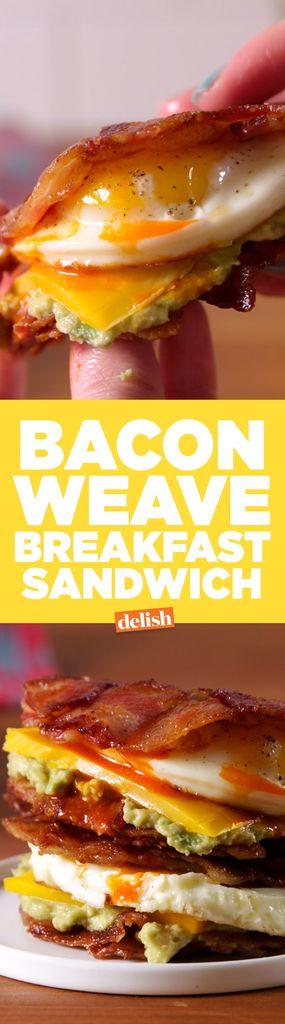 Turning A Bacon Weave Into a Bun = GENIUS